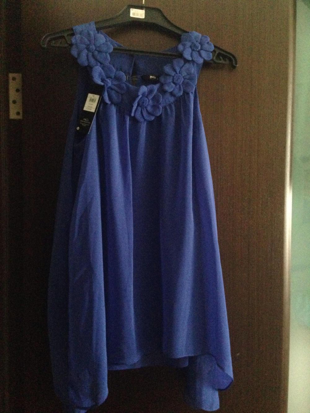 Легкая синяя блузка