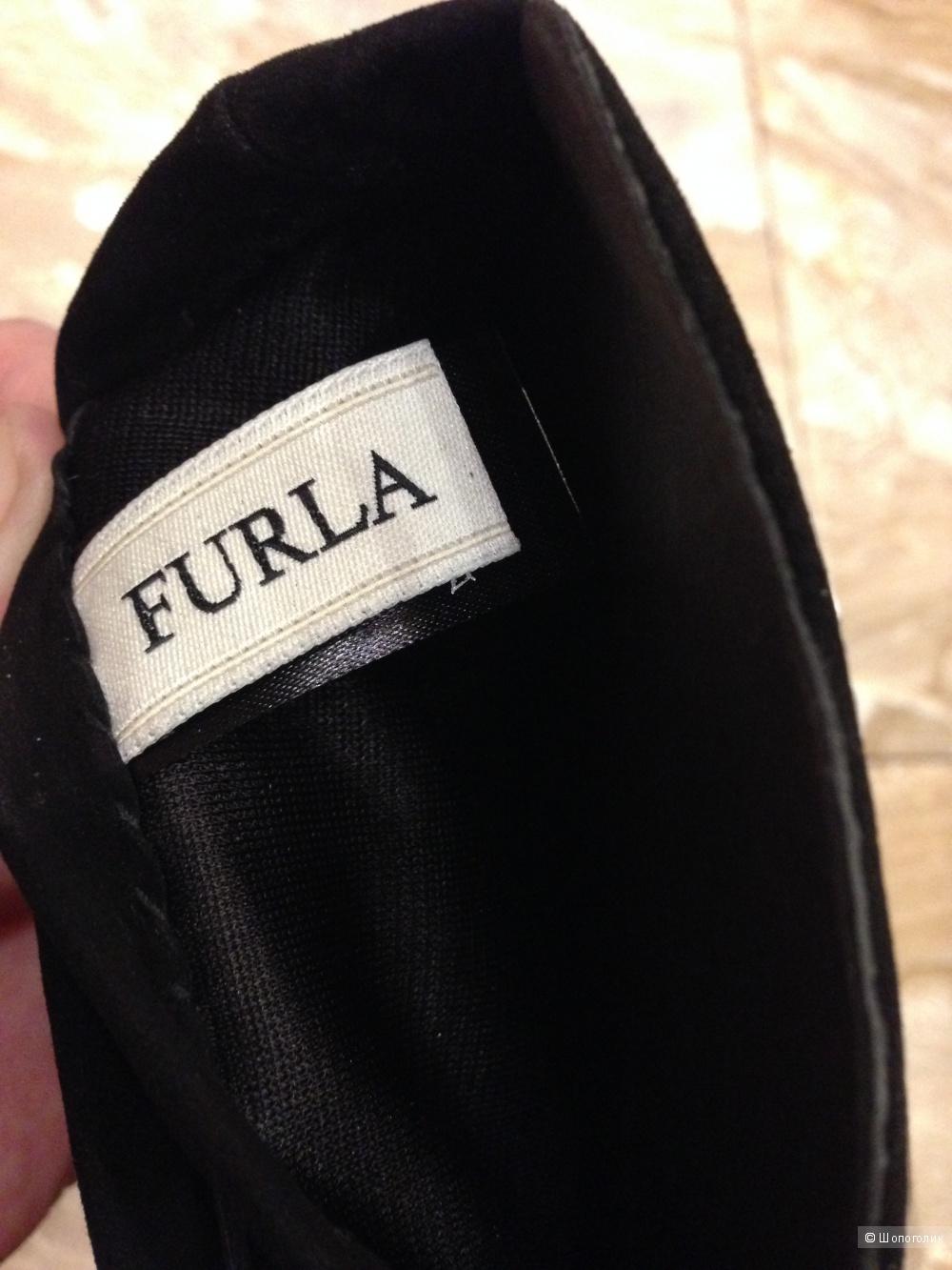 Высокие перчатки FURLA замша р.7.5 Новые.Оригинал