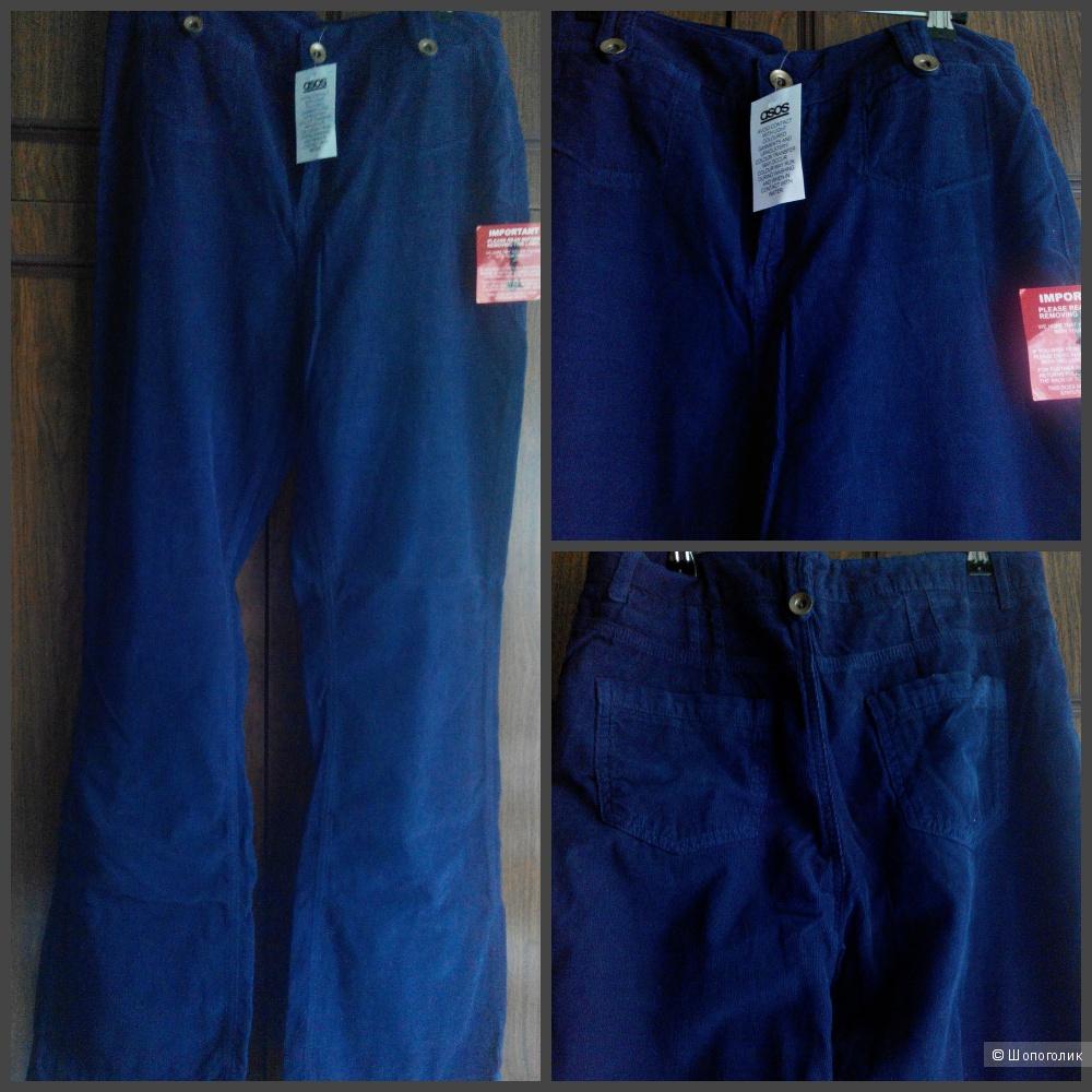 """Летние синие вельветовые джинсы Asos bootcut, UK14, L34"""""""