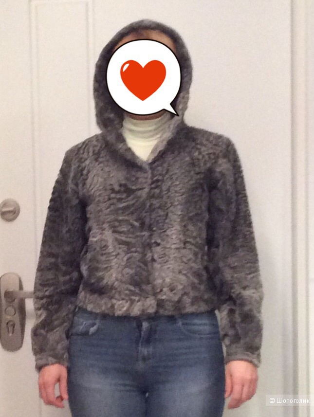 Меховая куртка из каракульчи б/у р. 46