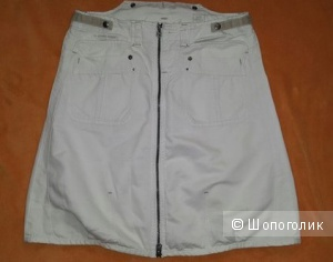 Юбка из белого джинса G-Star RAW (размер 48-50)
