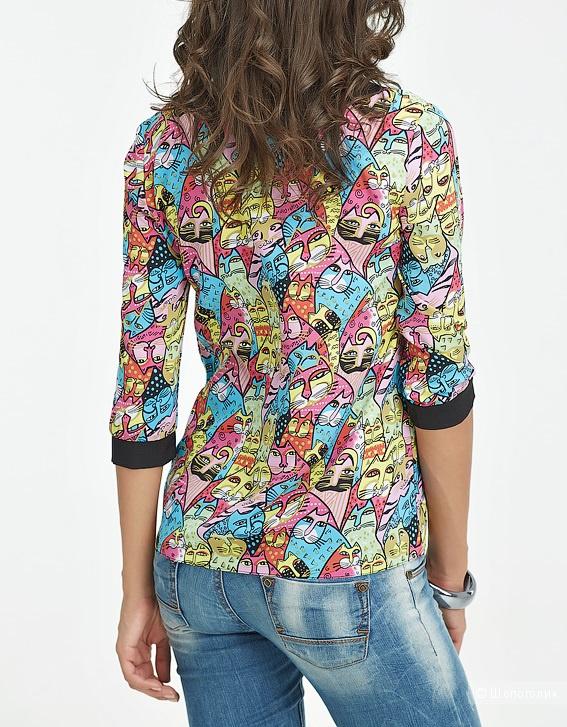 Интересная блузка с кошками на лето