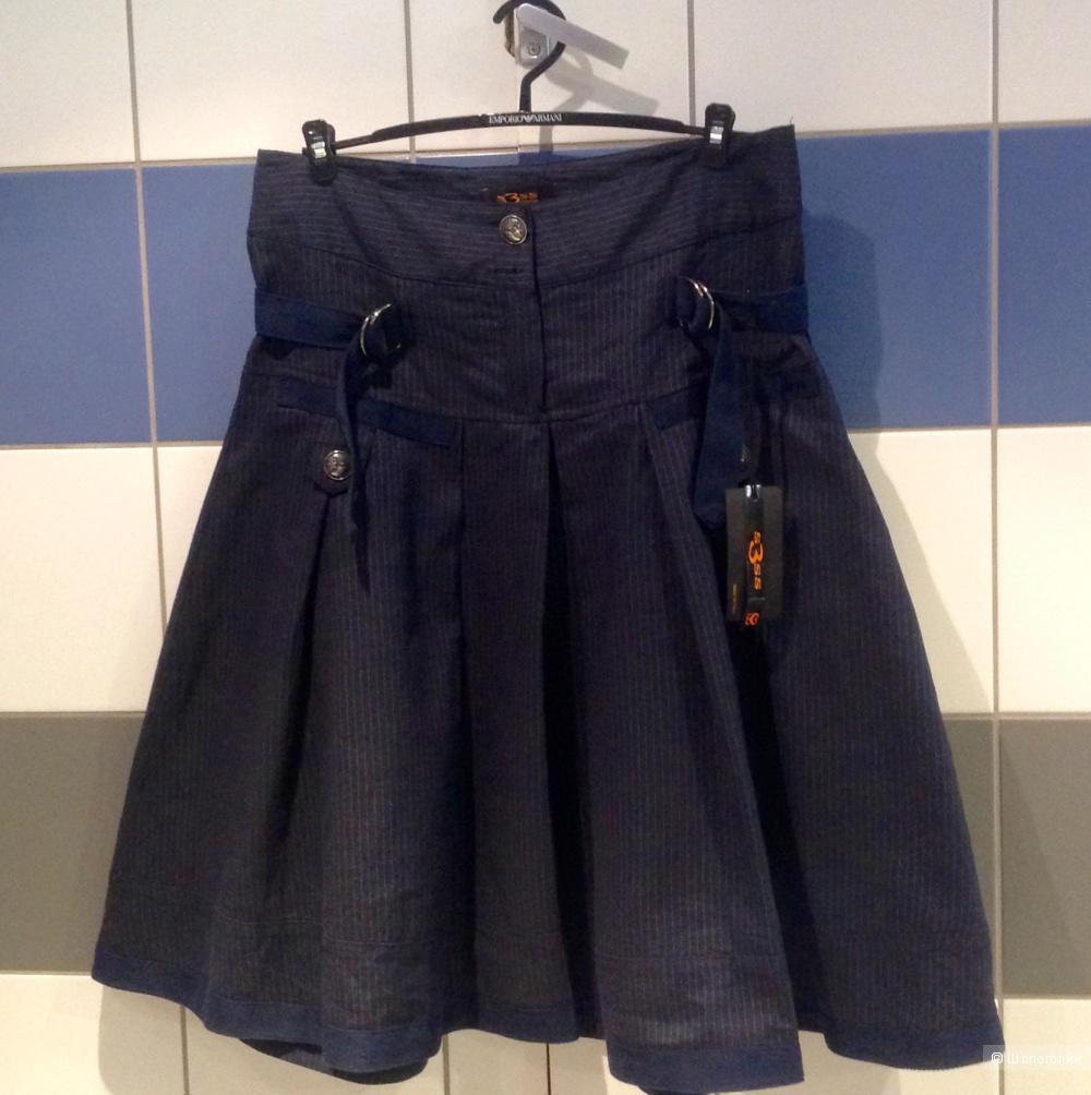 Новая льняная юбка Италия