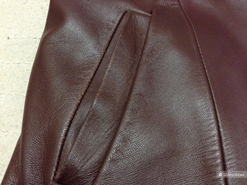 Демисезонная кожаная куртка с подкладом, L, 48(46 возможно) р-р