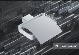 Держатель туалетной бумаги белого цвета