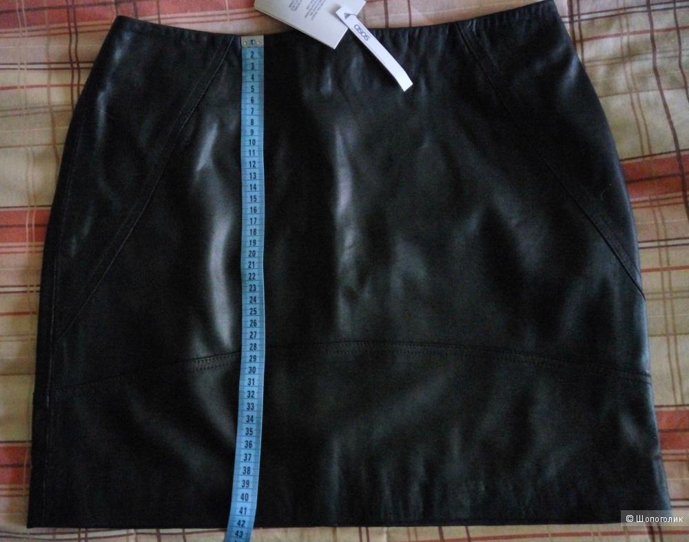 Новая мини юбка ASOS из натуральной кожи (UK12)