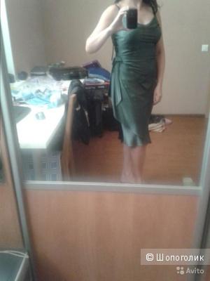 Итальянское платье из натурального шелка размер 46-48