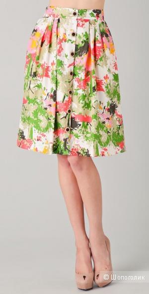 Шелковая юбка американской фирмы Milly р. US10 (на 46-48), идеал. состояние, б/у 1 раз