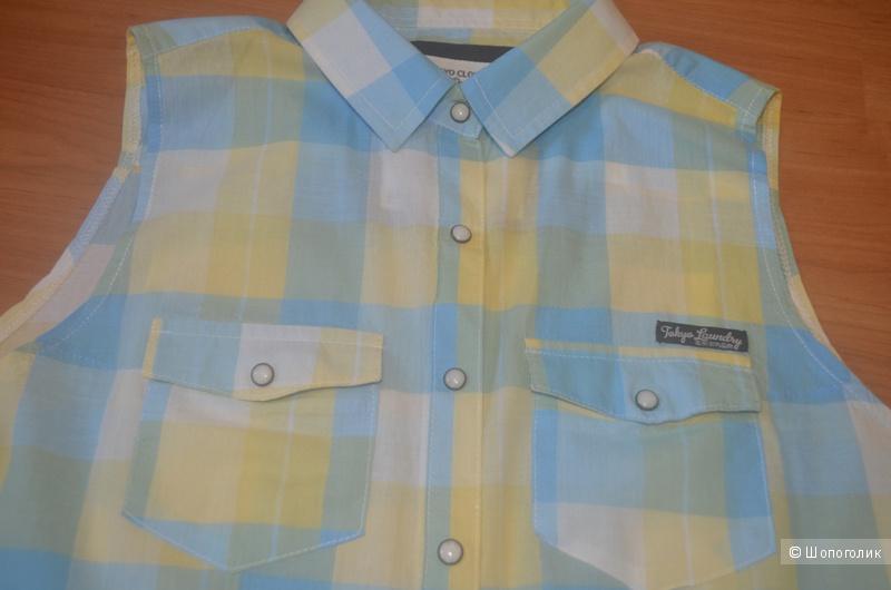 Продам хлопковую летнюю рубашку Tokyo Laundry, размер 10uk (44 рус.)