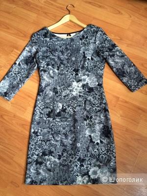 Новое теплое платье из плотной ткани стрейч