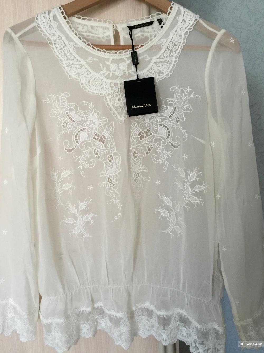 Новая блузка Massimo Dutti  шёлк 42-44
