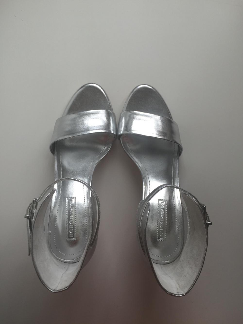 BCBGENERATION silver heels