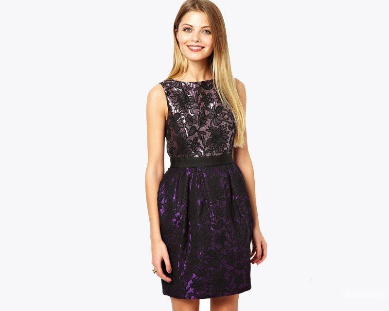 Жаккардовое  платье  asos 42