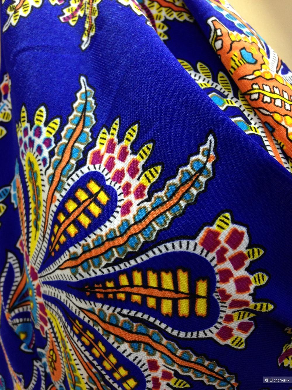 RALPH LAUREN красивое синее платье с узором пейсли р.44-46 Новое