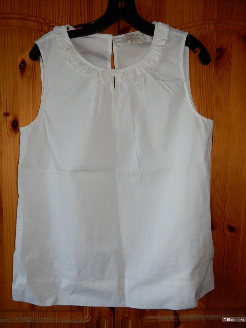 Летняя белая блузка Kate Spade р. US 10 (на 46-48)