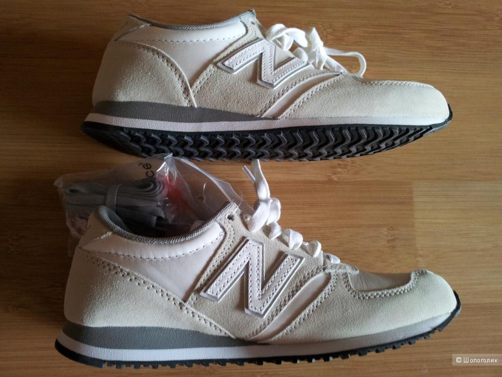 Кроссовки New Balance 420 Cream Suede Trainers UK4 новые