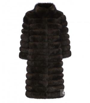 Меховое пальто/шуба из песца под соболь Fellicci