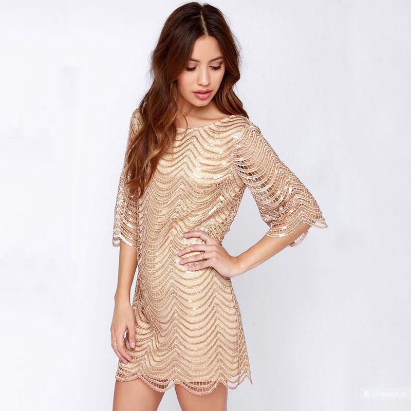 28297758e13 Красивое золотое платье Vancol