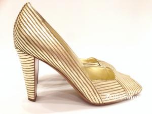 Sergio Rossi брендовые золотые туфли р.39 Новые.Оригинал