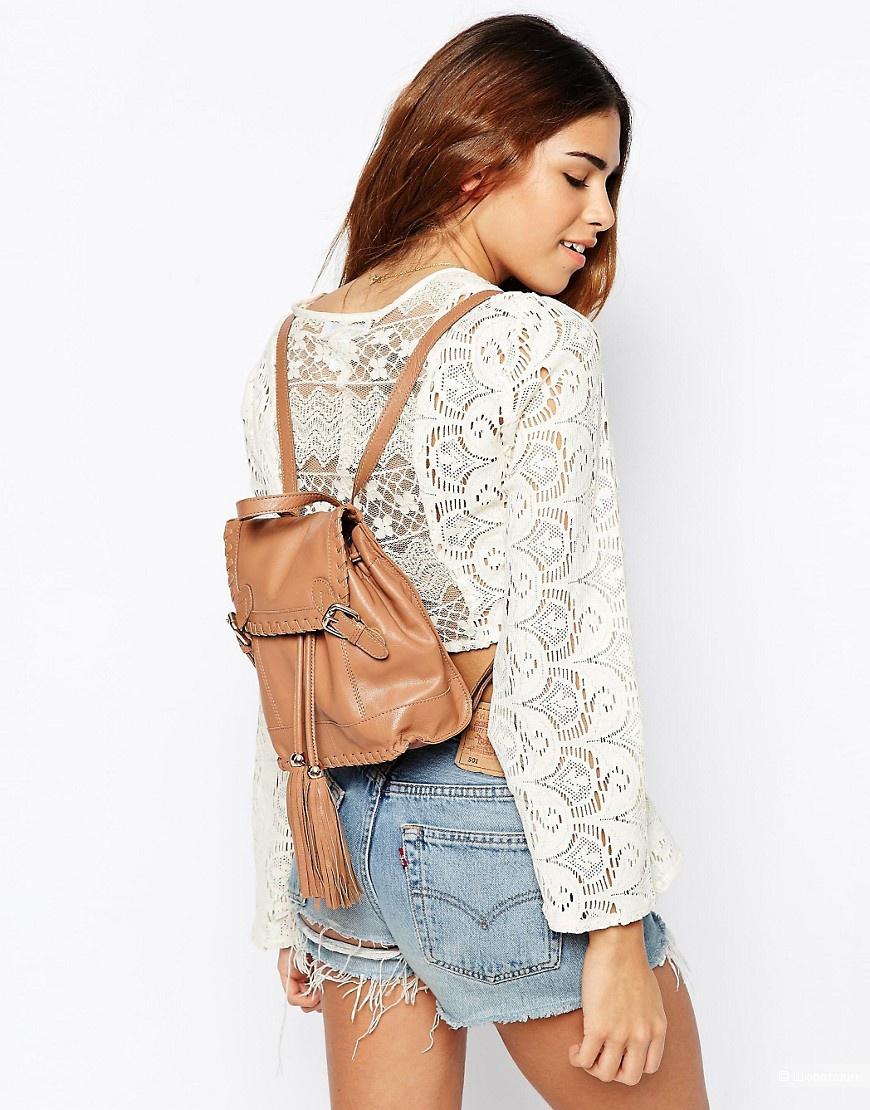 Компактный кожаный рюкзачок в винтажном стиле Urbancode новый
