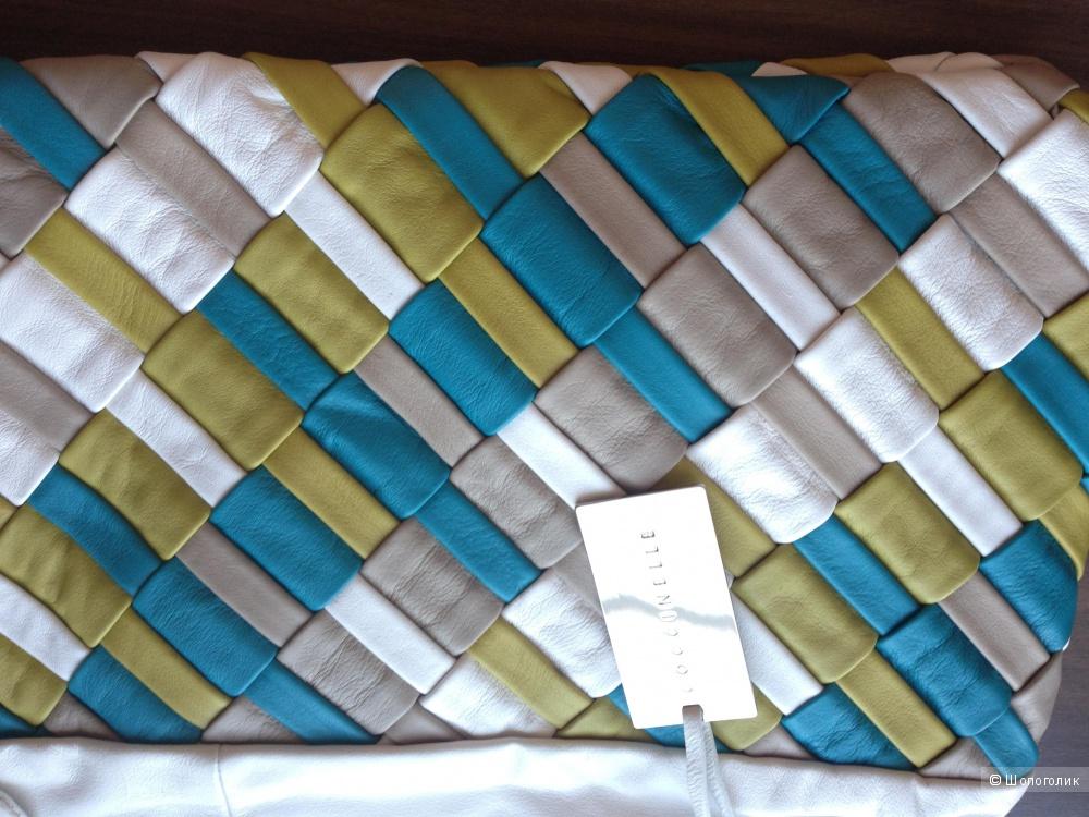 Красивая большая сумка Coccinelle с плетением из кожи Италия Новая Оригинал
