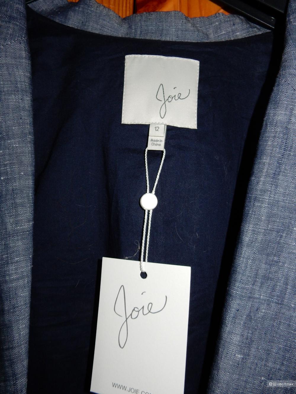 Льняной летний пиджак американского бренда Joie р.US 12 (на росс.48)