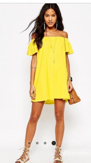 Платье мини с открытыми плечами ASOS (размер UK 8 / eu 36)