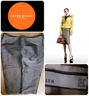 Karen Millen юбка-карандаш миди в полоску