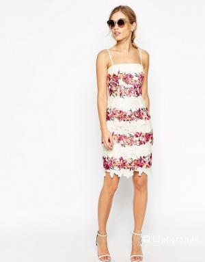 Кружевное платье миди с топом ASOS SALON