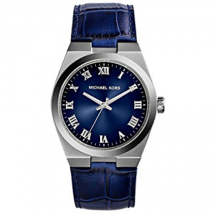Michael Kors Channing Blue Dial Blue Leather Unisex Watch MK2355