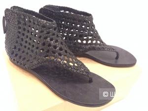 TAPEET VICINI  Italian luxury shoes крутые сандалии из вязаной кожи р.37 Новые