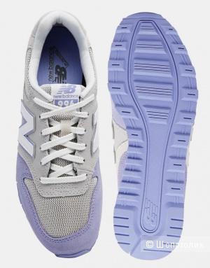 Серо-сиреневые кроссовки New Balance 996