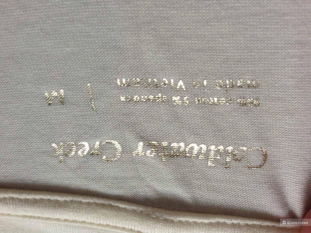 Трикотажная кофта с золотым рисунком с ценником 29.95$ Новая р.46-48