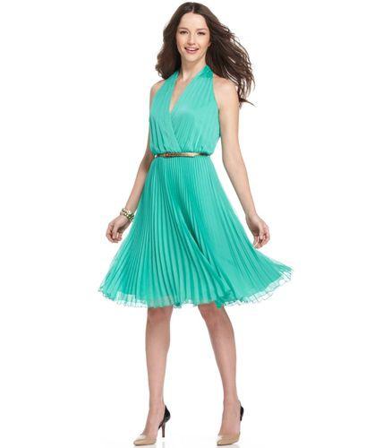 Шикарное плиссированное летящее платье мятного цвета от Jones New York р.44 или 46