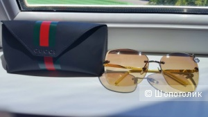 Новые очки GUCCI 4217S YELLOW/PALLADIUM GRADIENT BROWN LENS BUTTERFLY