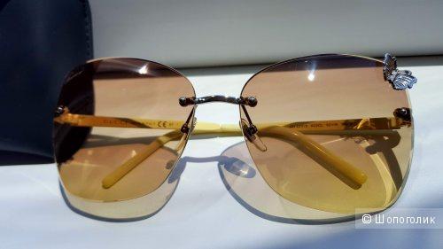 Новые очки GUCCI 4217S YELLOW/PALLADIUM GRADIENT BROWN LENS BUTTERFLY