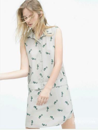 Платье-рубашка zara M