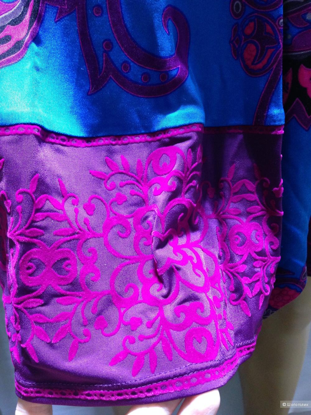 Hale Bob красивое брендовое платье с бархатной отделкой расшитой камнями р.44 Новое