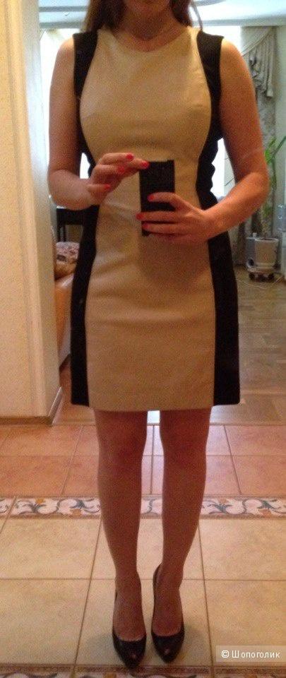 Стильное новое  кожаное платье Aqua р. 42-44