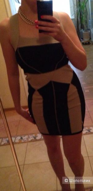 Новое бандажное платье H&M размер S русский 42-44