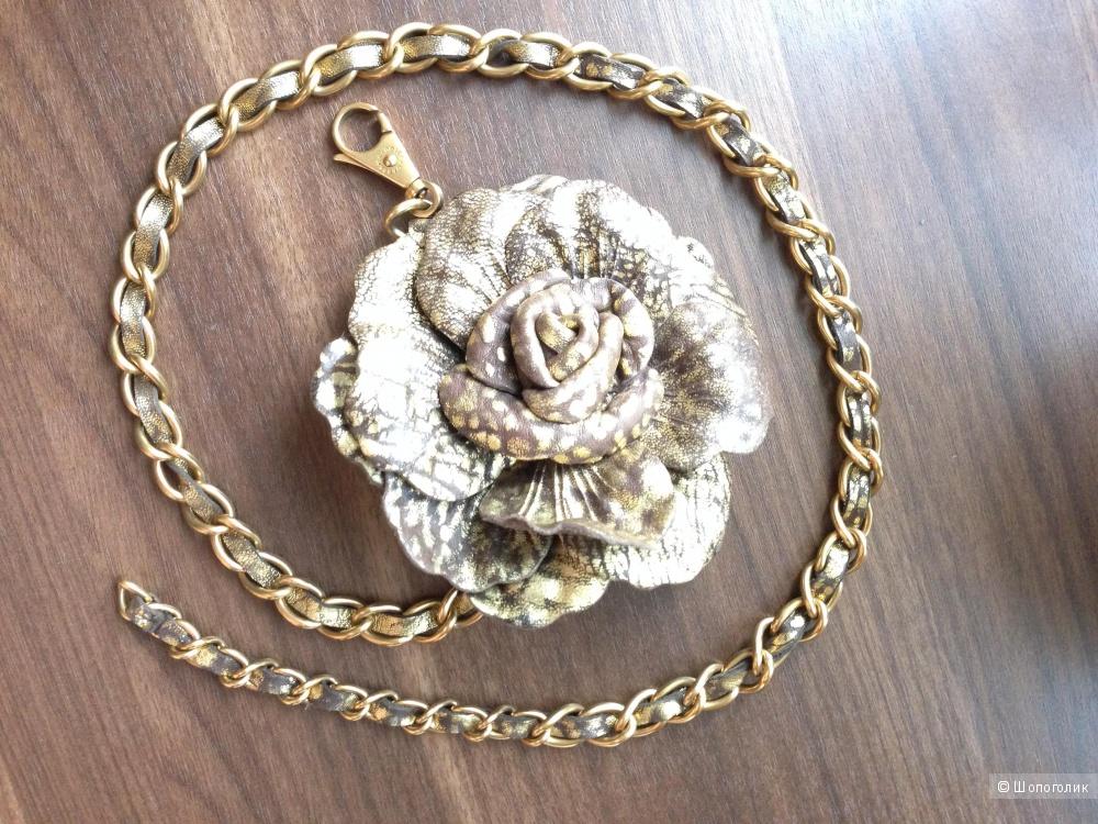 ремешок -пояс с цепью с кожаной розой от DOLCE&GABBANA Оригинал
