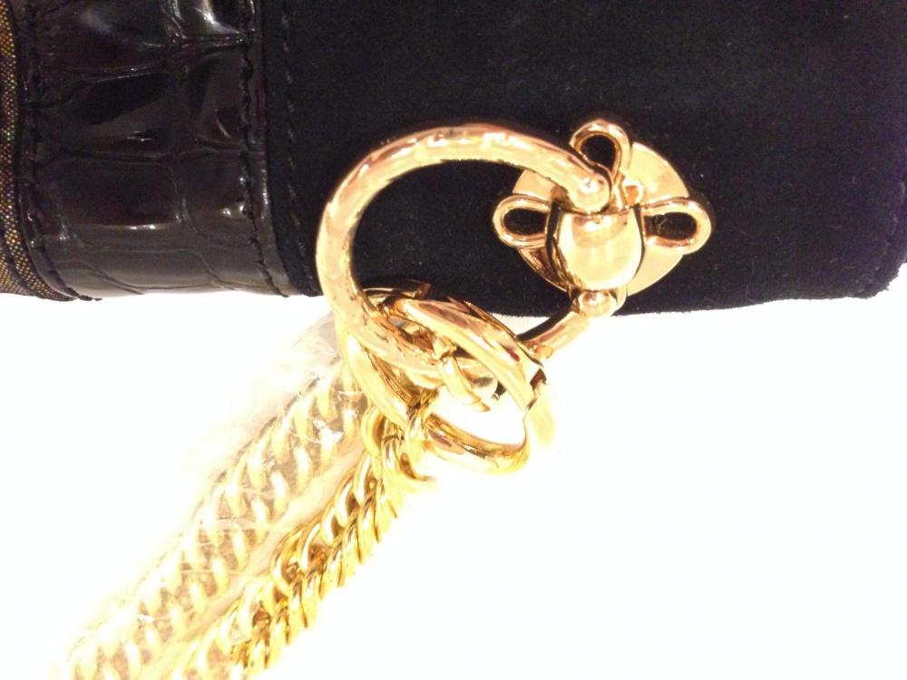 HALSTON HERITAGE сумка-клатч с золотыми цепями Новая.Оригинал