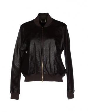 Куртка TWIN-SET Simona Barbieri, кожа+шерсть. Размер L - на полный 48-й.