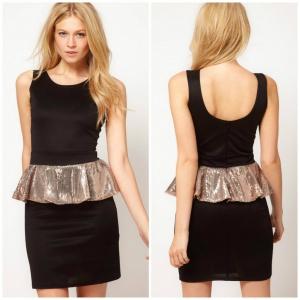Платье c баской LOVE размер S