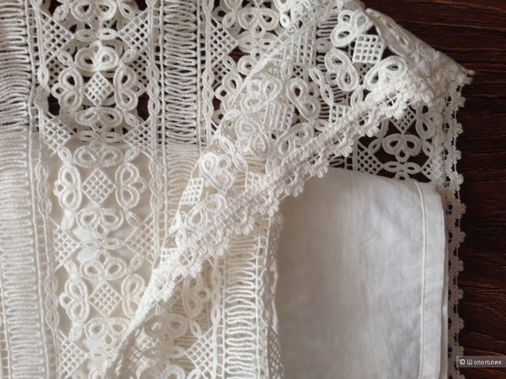 Брендовое платье из рельефного вязаного кружева от FRENCH CONNECTION р.44