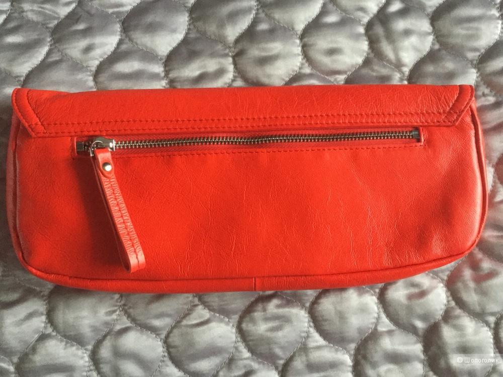Сумочка-клатч и ремень красно-алого цвета Corso Como