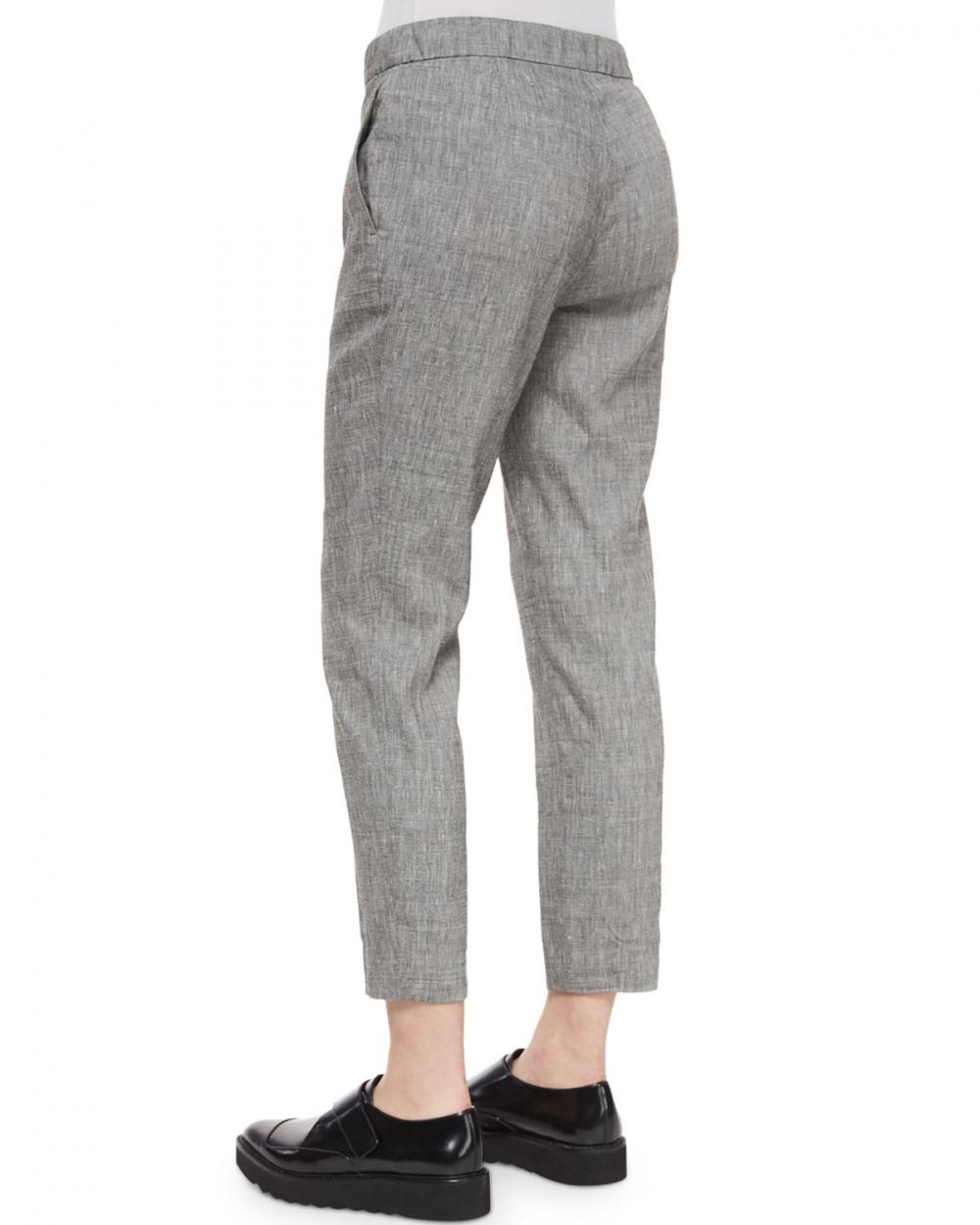 Новые льняные брюки Theory модель Thaniel, размер US10
