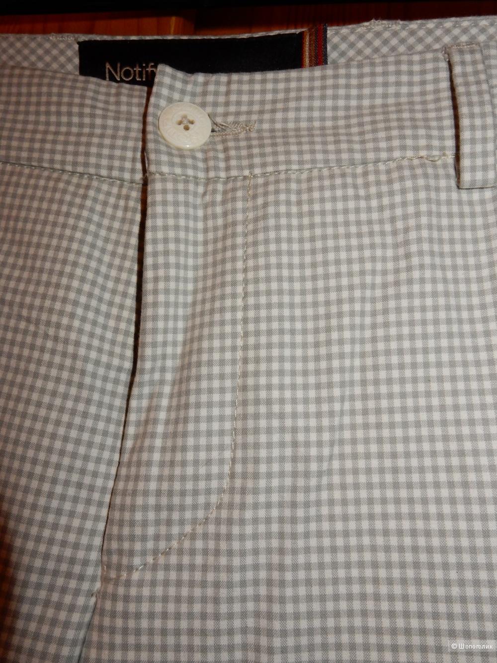 Новые брюки-чиносы в мелкую клетку Notify, размер 30