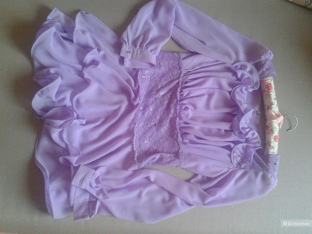 Шифоновая блузочка лавандового цвета