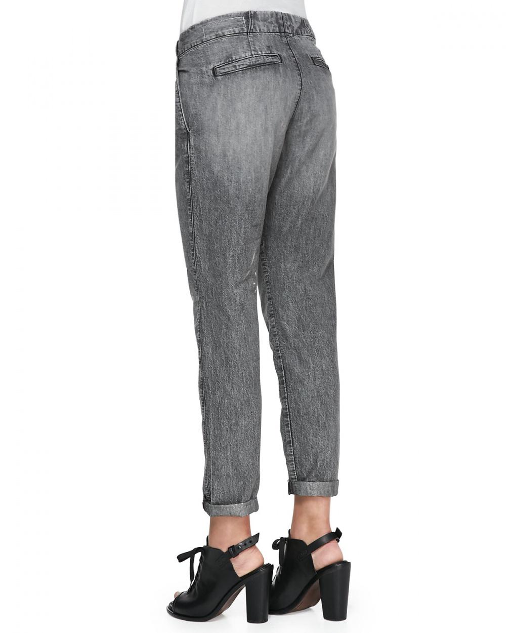 Джинсы rag & bone/JEAN Aberdeen Silver Chambray Trousers р.30